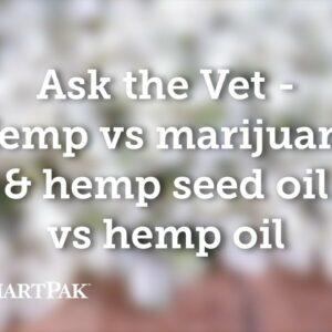 Ask the Vet - Hemp vs marijuana and hemp seed oil vs hemp oil