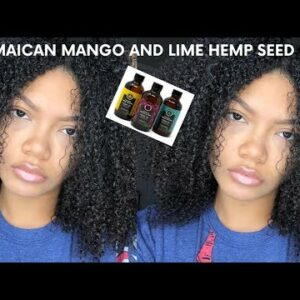 CURLY HAIR ROUTINE WITH HEMP SEED OIL   JAMAICAN MANGO AND LIME